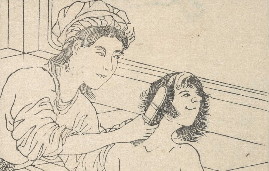 Utagawa Sadahide Yokohama kaiko kenbun-shi / Things seen and heard at the Yokohama Open Port (detail) 1865. Collection of Te Papa Tongarewa, purchased 2016