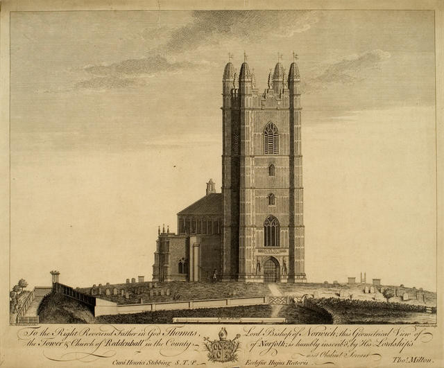Geometrical View Of The Tower And Church Of Reddenhall In The County Of Norfolk