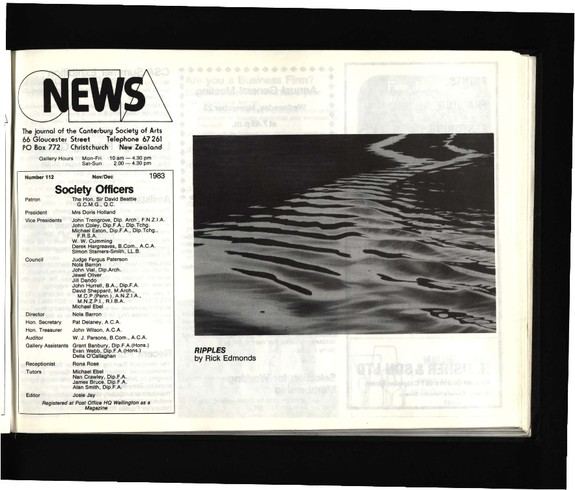 Canterbury Society of Arts News, number 112, November/December 1983