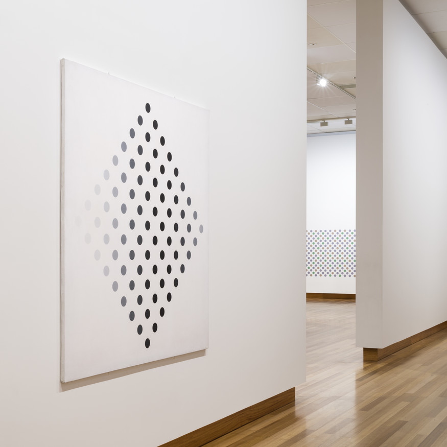 Installation view of Bridget Riley: Cosmos, 3 June – 12 November 2017. Christchurch Art Gallery Te Puna o Waiwhetū. © Bridget Riley 2017. All rights reserved
