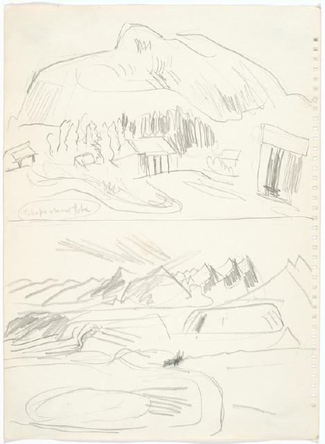 "Sketch Book for ""Two Chairs"" and ""Tekapo & Mt John"""