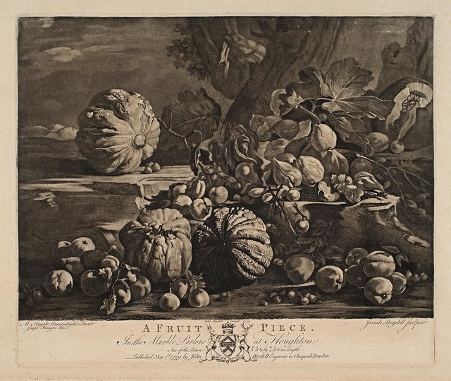A Fruit Piece (In The Marble Parlour At Houghton)