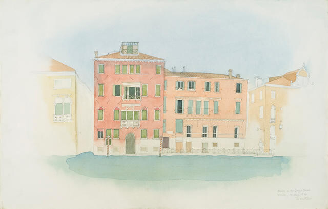 Houses On The Grand Canal, Venice, 12 May 1974