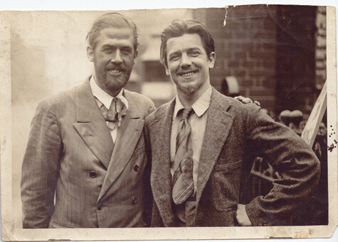 Ronald Ossory Dunlop (left) and Clifford Hooper Rowe (right). Kindly supplied by the Cliff Rowe Estate and reproduced with permission.