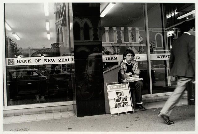Newspaper Seller, Hereford Street