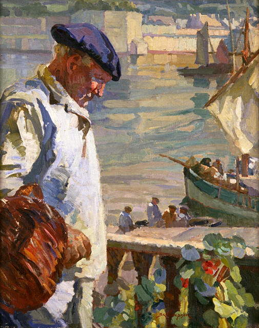 A Breton Fisherman And His Balcony, Concarneau