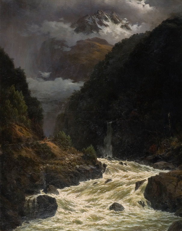Flood in Otira Gorge by John Gibb