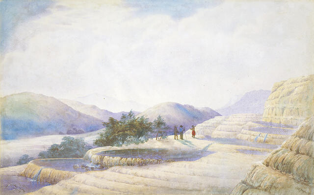 Te Tarata, The White Terraces, 1872